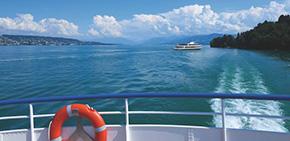 チューリッヒ湖の遊覧船