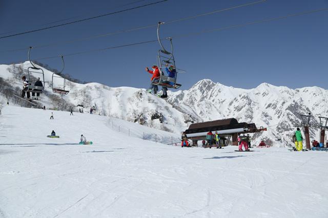白馬五竜スキー場のゲレンデ写真
