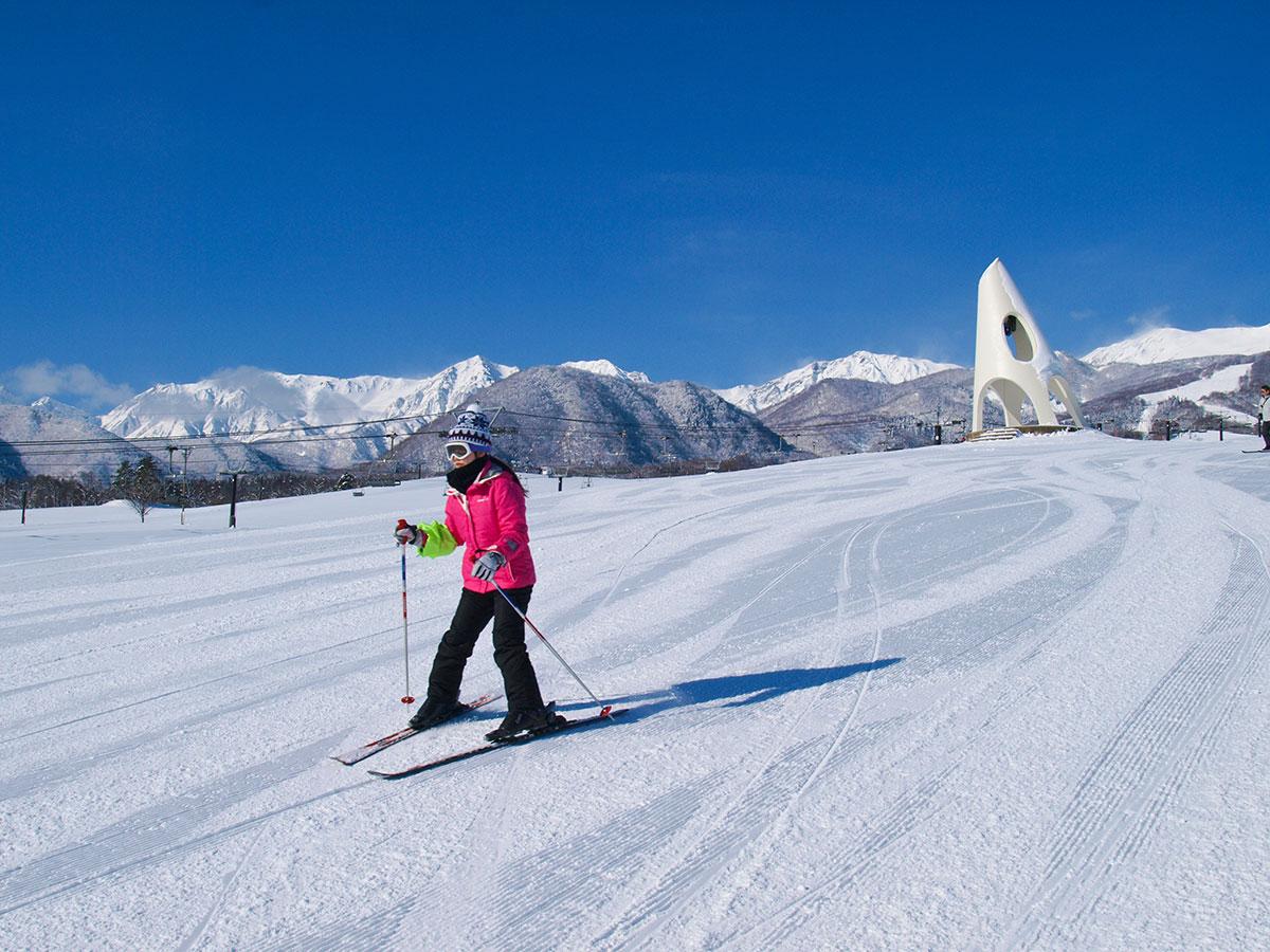 栂池高原スキー場のゲレンデ写真