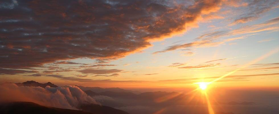 海抜3,000mからのご来光!北アルプス「乗鞍岳」で見る感動景色